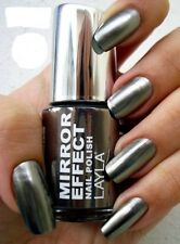 MIRROR EFFECT NAIL POLISH by LAYLA - BLACK AS EBONY - NEW 8008