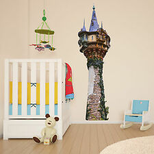 Tangled Tower Rapunzel Kids Girls Bedroom Colour Vinyl Decal Wall Sticker Gift