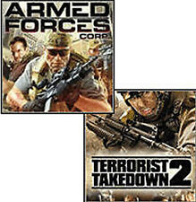 ARMED FORCES CORP & TERRORIST TAKEDOWN 2 Combo Pack NEW