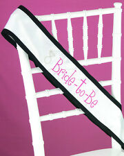 Bride to Be Bachelorette Party Bridal Shower Sash