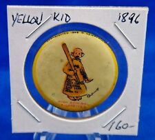 """1896 High Admiral Cigarettes Yellow Kid #8 Advertising Pin Pinback Button 1 1/4"""""""