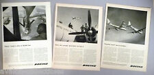 Boeing Aircraft PRINT AD - 1953 - LOT of 3 diff. ads