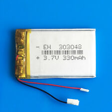3.7V 330mAh Lipo Battery for MP3 DVD GPS Headphone Bluetooth Selfie stick 303048