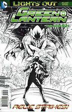 GREEN LANTERN #24 1:25 sketch variant DC NEW 52 2013 LANTERN BATTERY DESTROYED