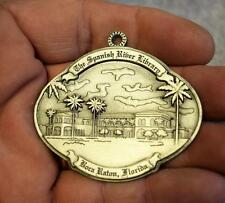 Howe House Pewter Ornament The Spanish Riber Library Boca Raton Florida MINT