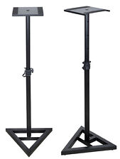 Height Adjustable Studio Monitor Speaker Stand Pair Home Studio Concert Band DJ