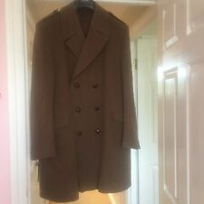 VINTAGE HEPWORTHS PURE NEW WOOL OVERCOAT COAT MILITARY COLOUR STYLE