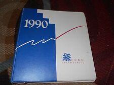 1990 FORD MUSTANG THUNDERBIRD PROBE CROWN VICTORIA ESCORT DEALER ALBUM W BINDER