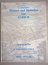 CATALOGO MUNZEN UND MEDAILLEN ZURICH AUKTION 279 APRIL 1999 HESS - DIVO AG