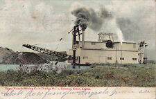 POSTCARD SOLOMON RIVER IN NOME ALASKA ( BALTO ) THREE FRIENDS MINING 1917  11-17