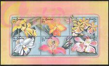 Gambia 2001 Orchidee/Fiori/Piante/NATURA/orchidea/Orticoltura Sht 6v (s5723)