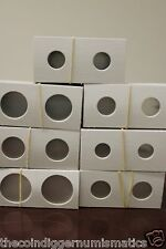 One Hundred (100) Assorted Size 2X2 Cardboard Mylar Coin Holders Flips