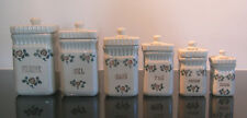 Vintage French ceramic storage set - SAINT UZE - beautiful.