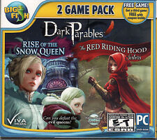 DARK PARABLES RED RIDING HOOD SISTERS + SNOW QUEEN Hidden Object PC Game NEW