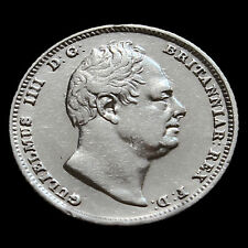 1834 William IV Milled Silver Sixpence – A/EF