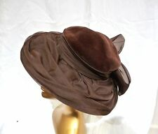 "Gorgeous vintage ""dressing-up"" period drama wide brimmed hat. velvet organza"