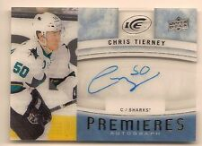 CHRIS TIERNEY 2015-16 UPPER DECK ICE PREMIERES ON CARD ROOKIE AUTO