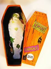 Set of 3 Halloween Candy Treat Boxes, Nesting, Stacking Coffin w/Mummy & Rats