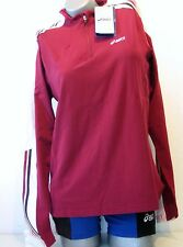 ASICS Damen Langarm Shirt Größe XS ( 32 / 34 ) rot NEU AORORA 1/2 ZIP Lauf shirt