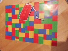 AWESOME LEGO BLOCK GIFT WRAP AND MATCHING GIFT TAG BIRTHDAY GEEK NERDY PARYT