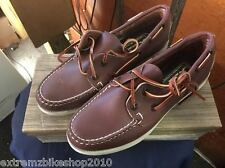 QUODDY WOMEN'S BOAT MOCCASINS - VINTAGE - NEW IN BOX - BUCK TAN- SIZE 7.5