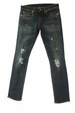 R13 WOMENS JEANS KATE SKINNY MEDIUM SHREDDED MADE IN ITALY SIZE 25 NEW