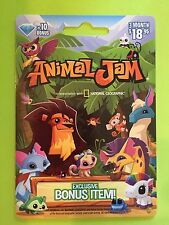 ANIMAL JAM 10 DIAMOND CARD 3 Month Membership National Geographic + Bonus Item!