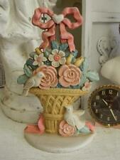 OMG!~The Sweetest Cast Iron Doorstop~Basket of ROSES~Bow & Ribbons~White Doves