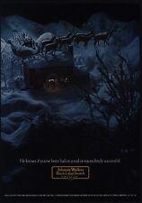 1973 SANTA CLAUS & Reindeer Sleigh w/ JOHNNIE WALKER Christmas Gifts VINTAGE AD