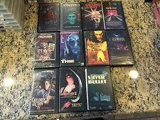 LOT OF 11 OOP VHS STEPHEN KING LOT HORROR MANGLER 1 & 2, THINNER, CREEPSHOW MORE
