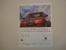 advertising Pubblicità 1994 ROVER 620 TURBO