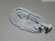 Cavo antenna TV coassiale maschio/maschio schermato 10 mt 90°
