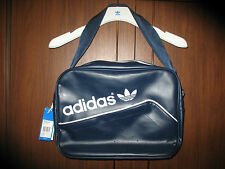 NEW ADIDAS ORIGINALS PERFORATED AIRLINER BAG NAVY/WHITE MESSENGER AB2782
