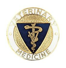 Veterinary Medicine Lapel Pin Caduceus Blue Crest Graduation Medical Emblem New