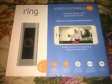 Ring Wireless Wi-Fi Video Camera Doorbell with a Ring Chime Satin Nickel NIB