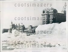 1934 Piles of Sand From Storm Atlantic City New Jersey Press Photo