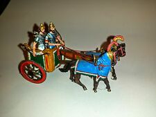 VINTAGE HAND PAINTED  LEAD TOY SOLDIERS GREEK ? ARMY CHARIOT