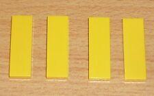 Lego City 4 Fliesen 1 x 3 in gelb