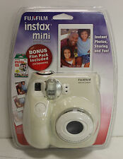 Fujifilm Instax MINI 7s White Instant Film Camera w/ Bonus Film 10 Exposures