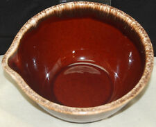 Vintage Hull Pottery Brown Drip 8'' Lip Round Spouted Batter Mixing Bowl [S6219]