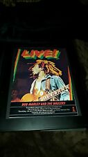 Bob Marley And The Wailers Live Rare Original Promo Poster Ad Framed!
