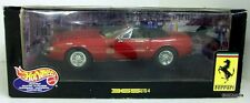 HOT WHEELS 1/18 - 25730 FERRARI F365 GTS/4 CONVERTIBLE MODEL CAR IN RED