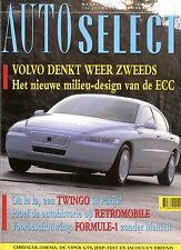 1993 AUTO SELECT MAGAZINE CHRYSLER VIPER GTS JEEP-TEST NIEDERLÄNDISCH DUTCH