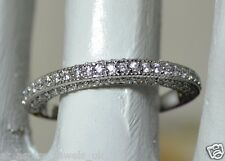 0.80CT BRILLIANT CUT DIAMOND WEDDING BAND SOLID 14carat WHITE FOR # 151487435532