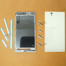 New Original White Full Housing Cover Replace Case 4 Sony Xperia Z L36H C6603/02