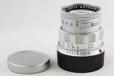 LEICA Leitz 50mm F2 Summicron-M Rigid Chrome Silver 1:2/50 RANGEFINDER M3 M4 M6