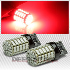2X 7443 127 SMD 127SMD RED 3020 LED TURN SIGNAL/BREAK/STOP 12V TAIL LIGHT BULB