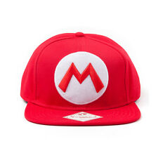 OFFICIAL NINTENDO SUPER MARIO BRO'S MARIO RED SNAPBACK CAP (BRAND NEW)