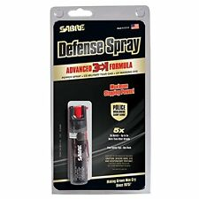 SABRE 3-IN-1 Pepper Spray Advanced Police Strength Compact Size 25 bursts Mace