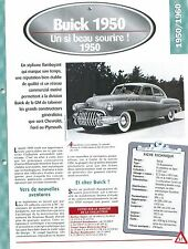 Buick 1950 1950  USA Car Auto FICHE FRANCE